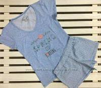 Пижама женская с шортами и футболкой EGO размер S,XL