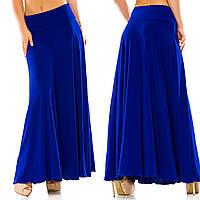 """Стильная женская длинная юбка в больших размерах 5025 """"Кокетка Клёш Макси"""" в расцветках"""