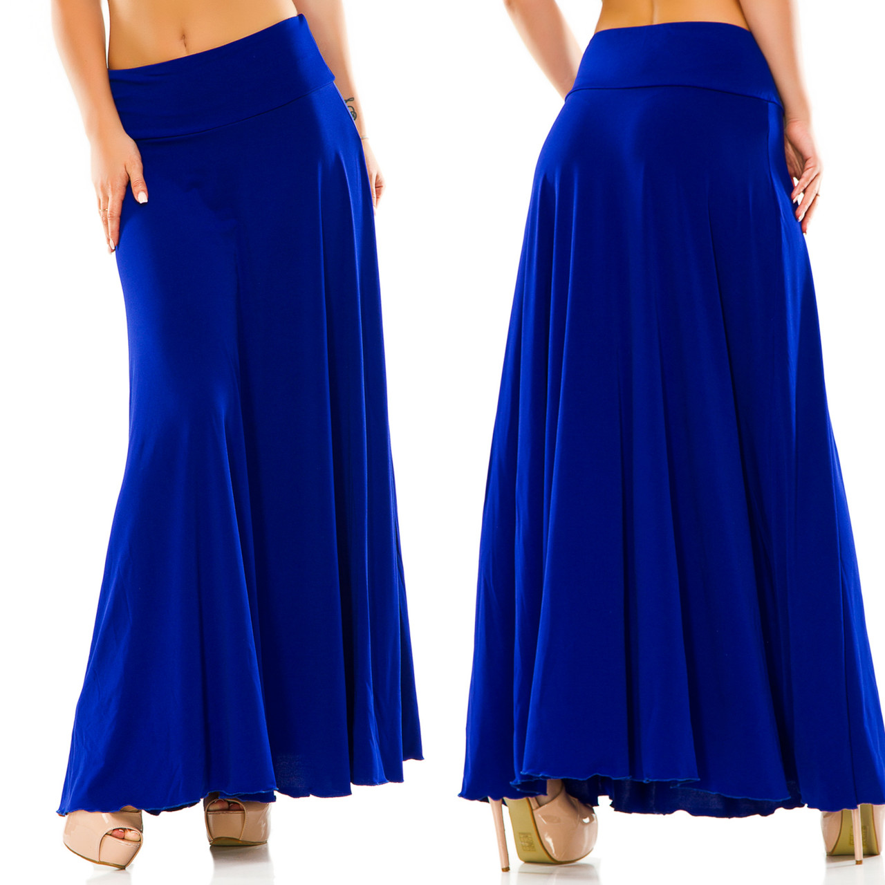 558a2c683a5 Стильная женская длинная юбка в больших размерах 5025