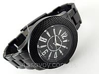 Часы мужские Alberto Kavalli в стиле Ampir, черный циферблат, золотистое обрамление