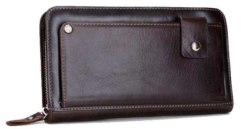b8a896055060 Мужской клатч из кожи MS Collection; Ms003B, тёмно-коричневый ...