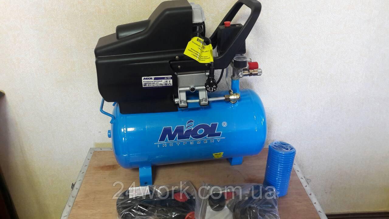 Компрессор масляный Miol 24 литра