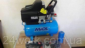 Масляний компресор Miol 24 літри