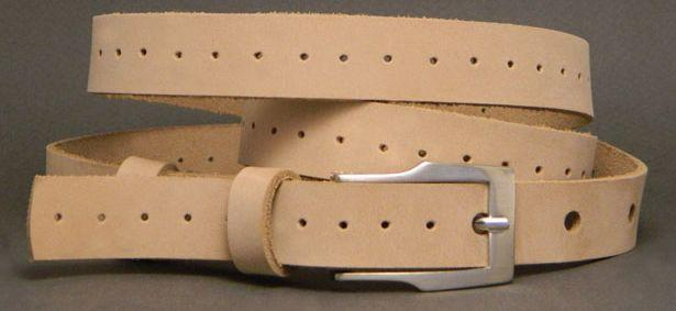 Женский ремень 3F20718 кожаный бежевый