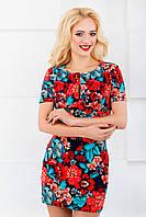 Женское платье 3038 синий/красный