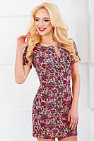 Женское платье 3038 беж/коралл