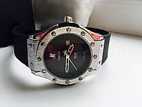 Часы Hublot чёрные с серебром 808171