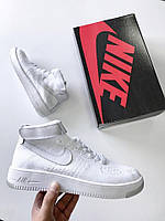 Кроссовки Nike Air Force 1 Hight Flyknit White. Живое фото. Топ качество! (аир форс, эир форсы)