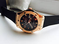Часы Hublot чёрные с золотом 808172