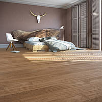 Baltic Wood Jeans 5_4HIM Дуб Cottage 1R Amber & Amber, матовый лак браш, паркетная доска 1-полосная