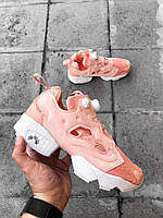 Кроссовки Reebok insta pump Wmns x Size Insta Pump Fury NT OG Pink White. Живое фото (пампы)