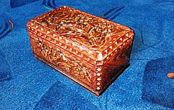 Шкатулка резная с цветами, фото 3