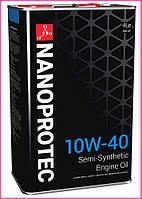 Моторное масло NANOPROTEC 10W-40, 4л
