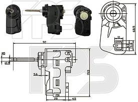 Корректор фары дляChevrolet Cruze с 2009- (DEPO)