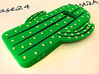 Резиновый 3D чехол накладка бампер для Samsung Galaxy S8 Кактус