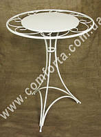 31929 Флора, столик круглый разборный металлический с декоративной столешницей, высота ~ 80 см, диаметр ~ 60 с