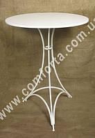 31931 Флора, стол круглый разборный металлический со сплошной столешницей, высота ~ 80 см, диаметр ~ 60 см
