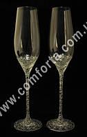 29178 Чаша любви, бокалы свадебные с кристаллами DMC (2 шт), высота ~ 26,5 см