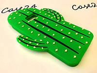 Резиновый 3D чехол накладка бампер для Samsung Galaxy S7 Edge Кактус