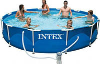 Каркасный бассейн круглый Intex 366х76см