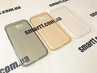 Ультратонкий чехол для Samsung Galaxy A7 2017 Duos SM-A720 серый и золотой