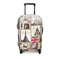 Защитный чехол для чемодана ЧехлоDan Love London All Europe Grey Series