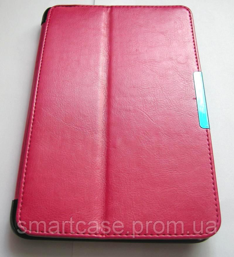 Розовый кожаный Premium чехол-книжка для планшета Asus Viviotab Note 8