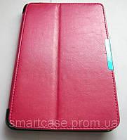 Розовый кожаный Premium чехол-книжка для планшета Asus Viviotab Note 8, фото 1