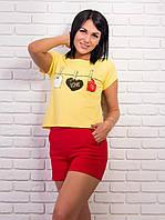 Женская укороченная футболка p.42-48 VM1996-4