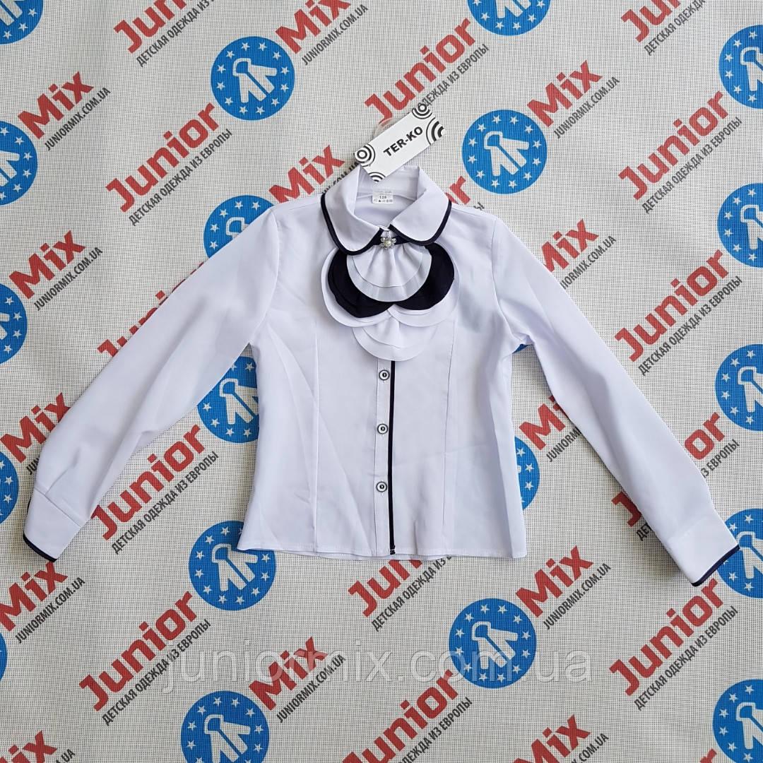Школьная детская блузка для девочек х/б TERKO.ПОЛЬША