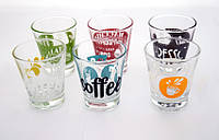 Стакан для кофе 85 мл. низкий, стеклянный в ассортименте Caffeino, Bormioli Rocco