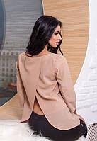 Стильная легкая блуза с открытой спиной 3 расцветки