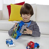 Playskool Heroes Transformers Rescue Bots Optimus Prime Racing Trailer Трансформер оптимус прайм
