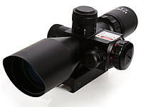 Оптический прицел 2,5-10 х 40 на планку 20 мм оптичний приціл оптика кратность 10х40 подсветка целеуказатель