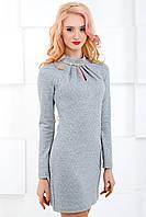 Женское платье 653 светло-серый