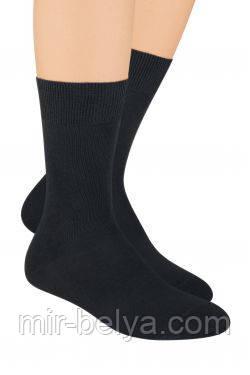 Черные мужские носки Steven хлопковые