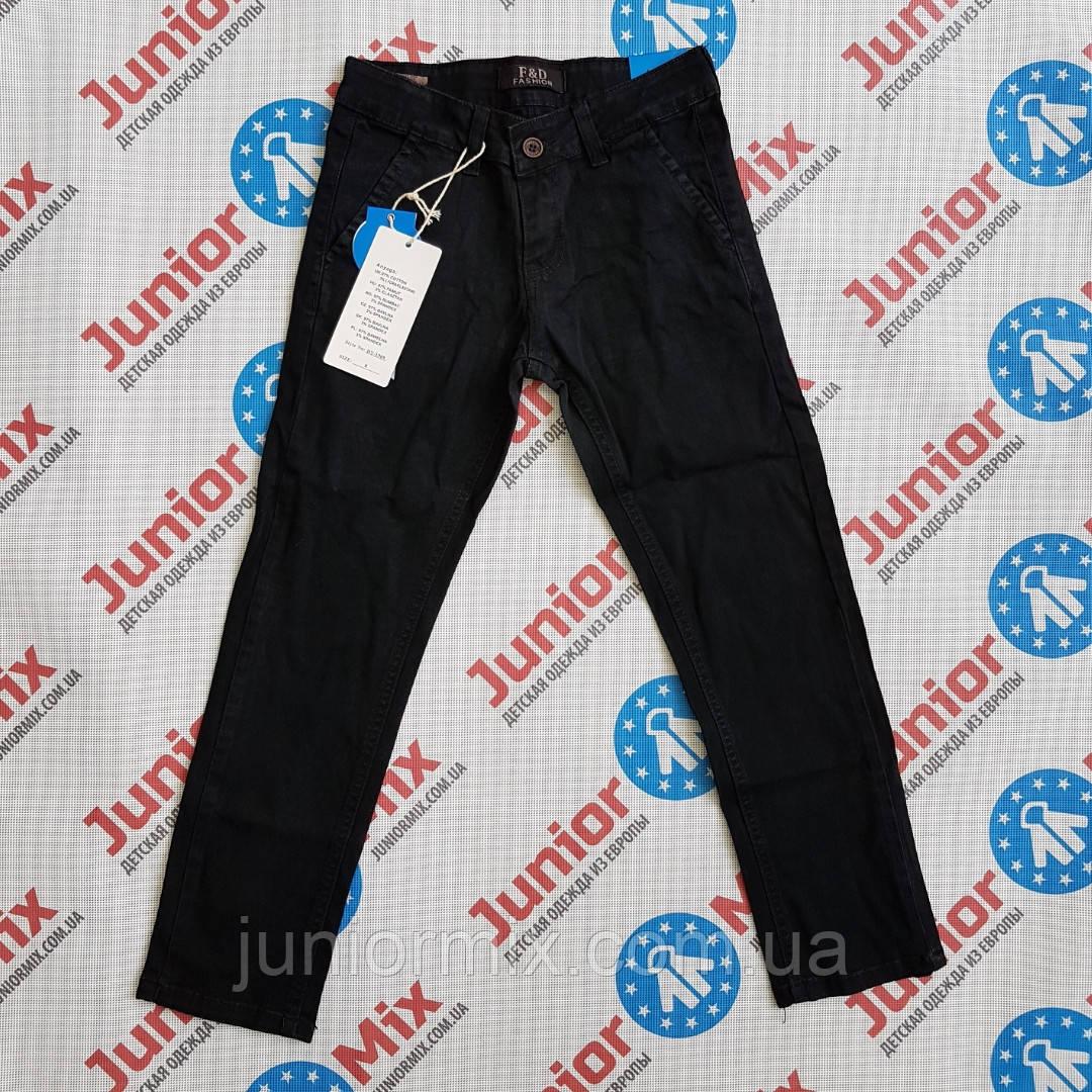 Подростковые котоновые брюки для мальчика чёрного цвета F&D