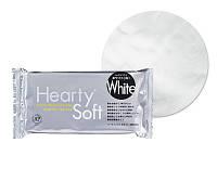 Hearty Soft 200г глина для лепки цветов, цвет белый. Харти Софт. Производство 2017г