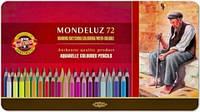 Акварельные карандаши 72 цв Mondeluz подарочные Koh-i-Noor, 3727