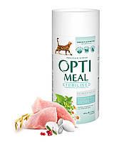 Сухой корм Optimeal для стерилизованных кошек и кастрированных котов - индейка и овес, 0,65кг