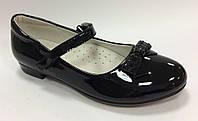 Школьные Туфли для девочки черные Размеры 34 35 36 37