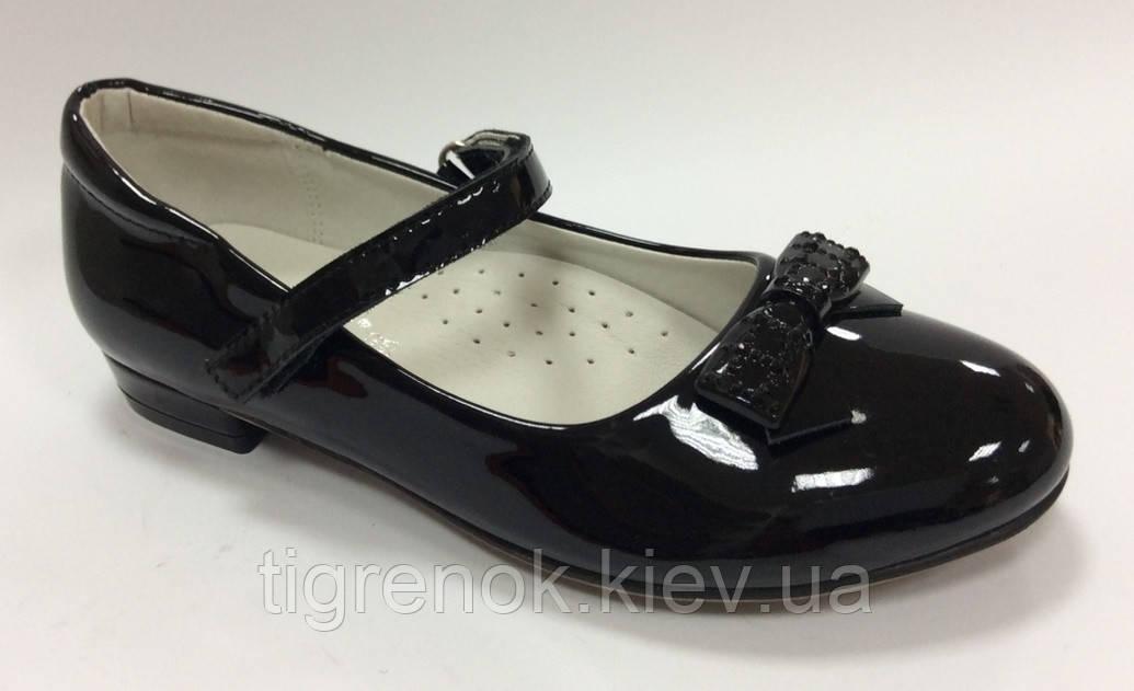 e7e43b3b2 Школьные Туфли для девочки черные Размеры 34 35 - Тигрёнок интернет-магазин  детских и подростковых