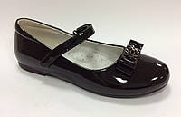 Школьные Туфли для девочки черные Размеры 32 33 34 35 36