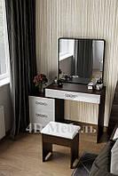 Большой вместительный будуарный столик с большим зеркалом и тумбой, модель BS-104, UGO-mebel, фото 1