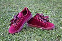 Кроссовки криперы бордовые бархат  копия Puma Suede Heart Reset Sneaker  c 36 по 41 размер 36
