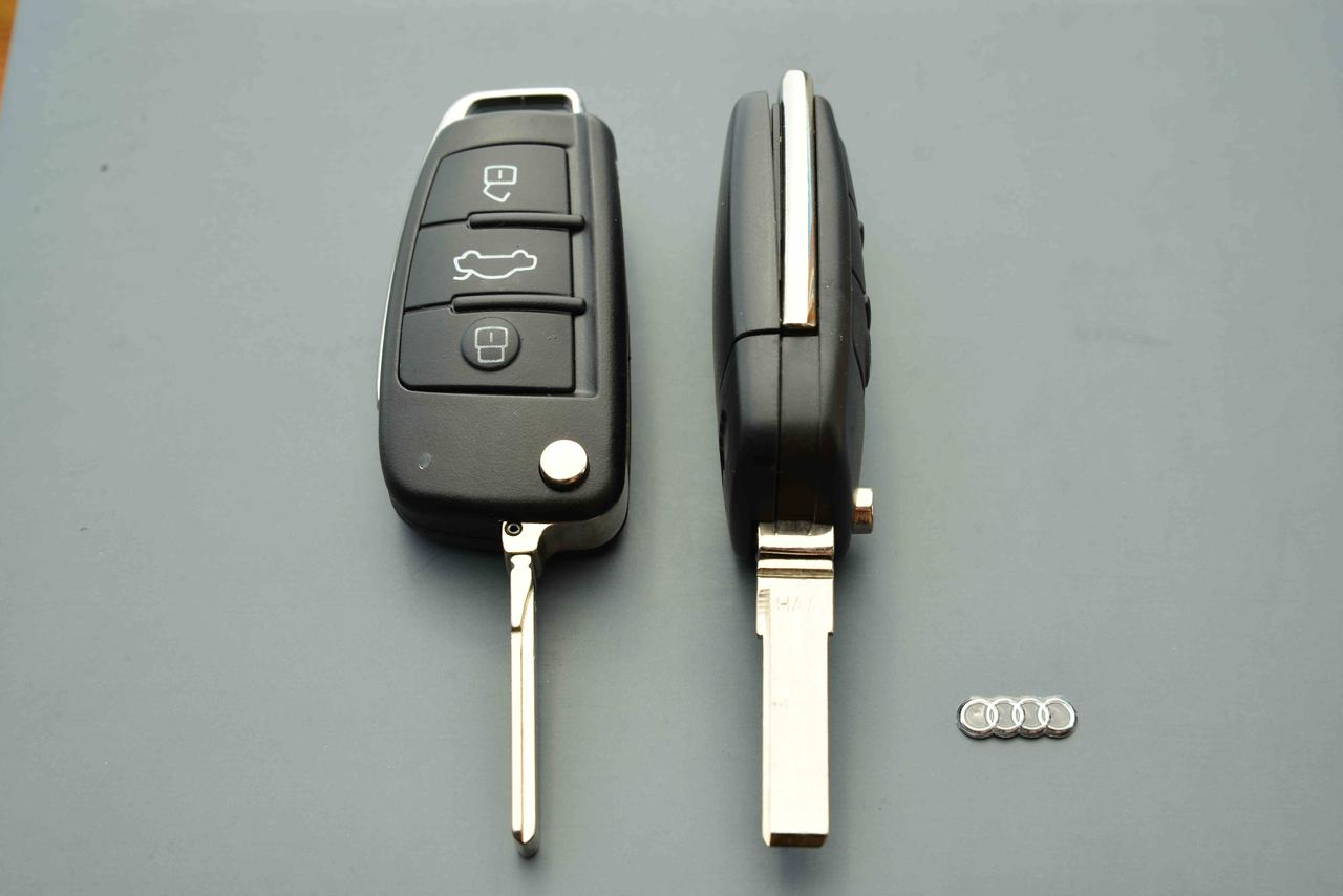 Корпус выкидного авто ключа для Audi А1, А3, А4, А6, Q7 (Ауди А1, А3,