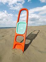 """Лопатка """"SСOPPI"""" с ситом для песка и снега (цвет оранжевый + голубой), 170211, QUUT"""