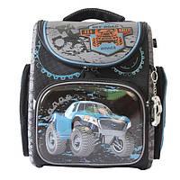 Школьный ранец для мальчика с брелком, Winner Stile, черно-серый