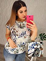 Женская футболка цветочный принт