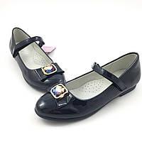 Школьные туфли для девочки Tom.m Брошь, синий (р.31,32,33,34,35,36)